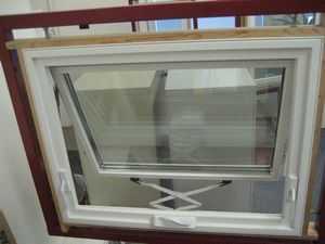 awning window, opened